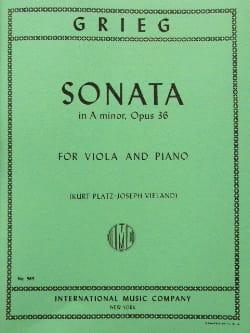 Sonata in A major op. 36 – Viola - Edvard Grieg - laflutedepan.com