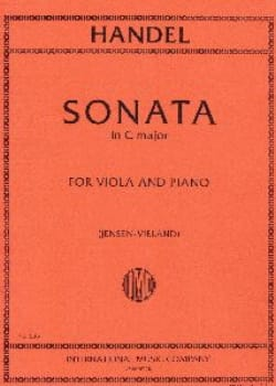 Sonata in C major - Viola - HAENDEL - Partition - laflutedepan.com