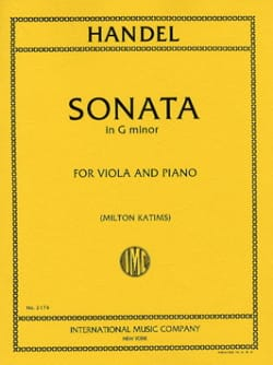 Sonata in G minor - Viola HAENDEL Partition Alto - laflutedepan