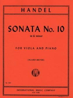 Sonata n° 10 in G minor - Viola HAENDEL Partition Alto - laflutedepan