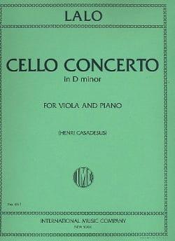 Edouard Lalo - Concerto Violoncelle en ré mineur – Alto - Partition - di-arezzo.fr