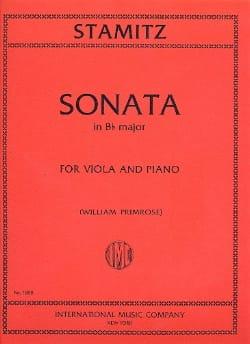 Sonata in B flat major - STAMITZ - Partition - Alto - laflutedepan.com