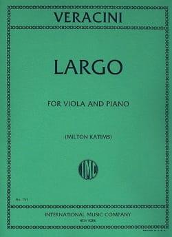 Francesco Maria Veracini - Largo – Viola - Partition - di-arezzo.fr