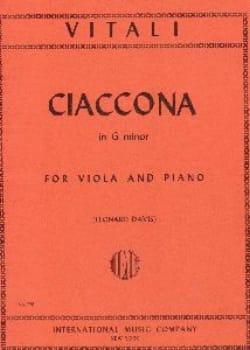 Tommaso Antonio Vitali - Ciaccona in G minor - Partition - di-arezzo.fr