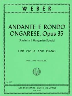 Carl Maria von Weber - Andante und Rondo Ongare - Noten - di-arezzo.de