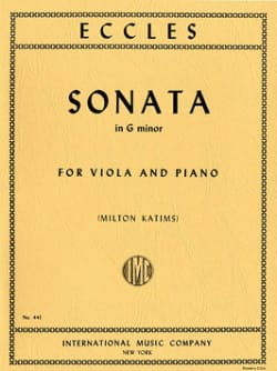 Henry Eccles - Sonata in G minor – Viola - Partition - di-arezzo.fr
