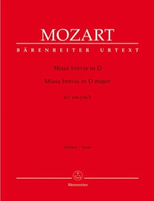 MOZART - Missa brevis in D-Dur KV 194 - Partitur - Sheet Music - di-arezzo.co.uk