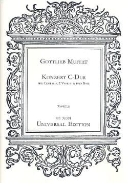 Konzert C-Dur - Partitur - Gotlieb Muffat - laflutedepan.com