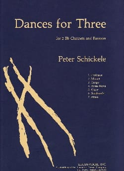 Dances For Three - Peter Schickele - Partition - laflutedepan.com