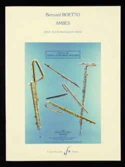 Ambes - Bernard Boetto - Partition - laflutedepan.com
