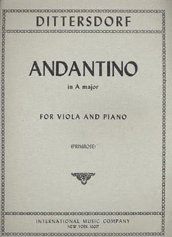 Andantino in A major - Carl Ditters von Dittersdorf - laflutedepan.com