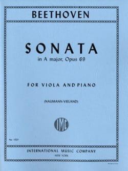 Ludwig van Beethoven - Sonate en la Majeur, op. 69 – Alto - Partition - di-arezzo.fr
