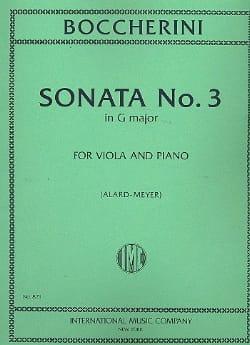 BOCCHERINI - Sonate n° 3 sol majeur - Alto - Partition - di-arezzo.fr