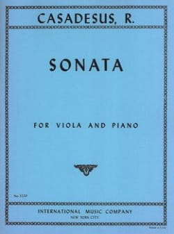 Sonata op. 12 - Viola piano - Robert Casadesus - laflutedepan.com