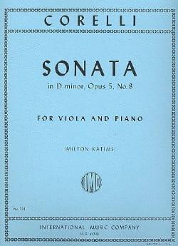 Arcangelo Corelli - Sonate en ré mineur, op. 5 n° 8 - Partition - di-arezzo.fr