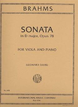 BRAHMS - Sonata in D major, op. 78 – Viola - Partition - di-arezzo.fr