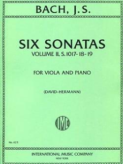 BACH - 6 sonatas, volumen 2 transcr. BWV 1017-1019 - Partition - di-arezzo.es