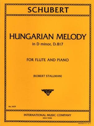 Mélodie Hongroise En Ré Min. - D.817 - SCHUBERT - laflutedepan.com
