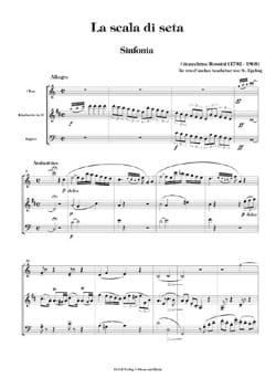 Gioacchino Rossini - La scala di seta - Sinfonia - Oboe Klarinette Fagott - Partition - di-arezzo.fr