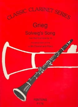 Solveig's Song - Clarinet GRIEG Partition Clarinette - laflutedepan