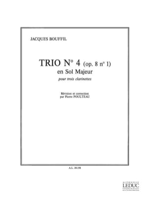 Trio n° 4 op. 8 n° 1 Jacques-Jules Bouffil Partition laflutedepan