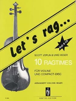 Joplin Scott / Heger Uwe - Let's Rag - 10 Ragtimes – Violon (+CD) - Partition - di-arezzo.fr
