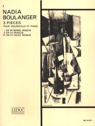 Nadia Boulanger - Piece N ° 1 in E flat minor - Sheet Music - di-arezzo.co.uk