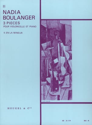 Nadia Boulanger - 3 Pieces, n ° 2 in A minor - Sheet Music - di-arezzo.co.uk