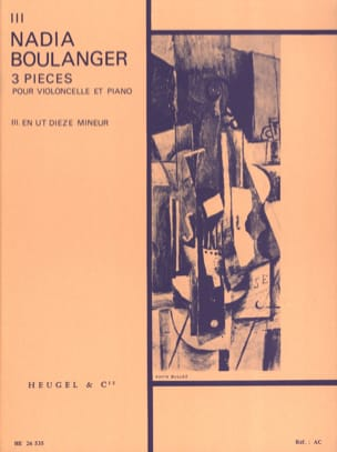 Nadia Boulanger - 3 Pieces, n ° 3 in C minor - Sheet Music - di-arezzo.com