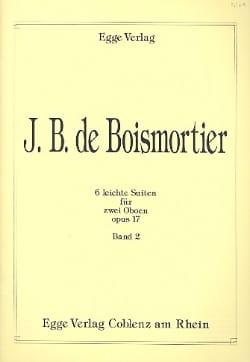 Joseph Bodin de Boismortier - 6 Leichte Suiten op. 17 - 2 Oboen Bd. 2 - Partition - di-arezzo.fr
