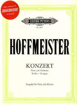 Franz Anton Hoffmeister - Concerto Alto en ré majeur - Partition - di-arezzo.fr