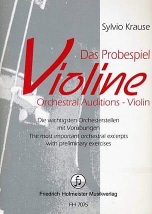 Sylvio Krause - Das Probespiel Violine - Partition - di-arezzo.fr