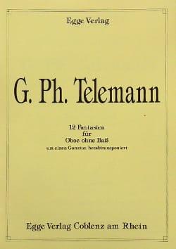 TELEMANN - 12 Fantasian - Oboe - Sheet Music - di-arezzo.com