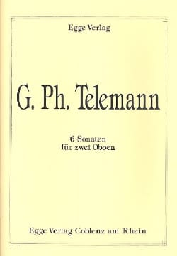 TELEMANN - 6 Sonatas for 2 Oboes - Sheet Music - di-arezzo.co.uk