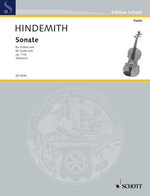 Paul Hindemith - Sonate op. 11 n° 6 - Partition - di-arezzo.fr
