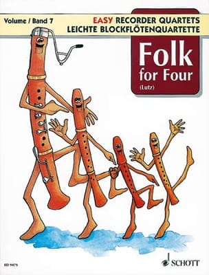 Folk For Four - Easy Recorder Quartets - Vol.7 - Partition - di-arezzo.fr
