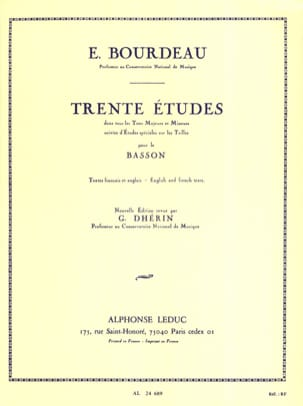 Eugène Bourdeau - 30 Studies - Sheet Music - di-arezzo.com