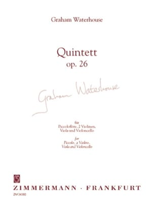 Graham Waterhouse - Quintett op. 26 – Partitur + Stimmen - Partition - di-arezzo.fr