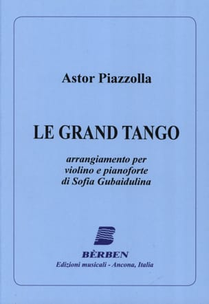 Astor Piazzolla - The Grand Tango - Violin - Sheet Music - di-arezzo.co.uk