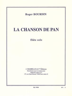 Roger Bourdin - The song of Pan - Sheet Music - di-arezzo.com