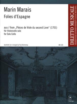Marin Marais - Folies d'Espagne - Partition - di-arezzo.fr