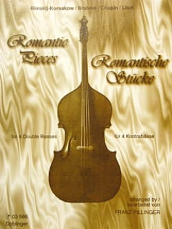 Franz Pillinger - Romantic pieces - 4 Double basses - Partition - di-arezzo.fr