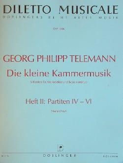 Georg Philipp Telemann - Die kleine Kammermusik - Heft 2 (Partiten 4-6) - Partition - di-arezzo.fr