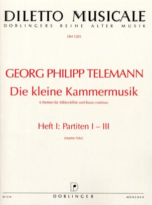 Die kleine Kammermusik - Heft 1 Partiten 1-3 - laflutedepan.com