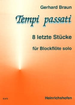 Gerhard Braun - Tempi Passati – Blockflöte solo - Partition - di-arezzo.fr