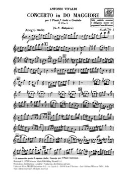VIVALDI - Concerto in C Maj. - F. 6 n ° 2 - Equipment - Sheet Music - di-arezzo.com