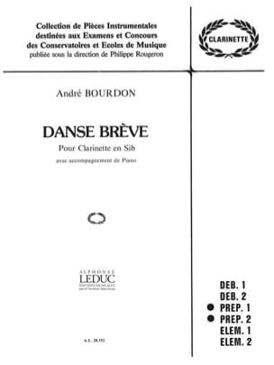 André Bourdon - Danse brève - Partition - di-arezzo.fr
