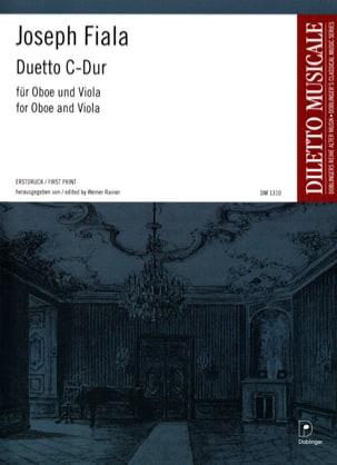 Duetto C-Dur - Oboe Viola Joseph Fiala Partition Duos - laflutedepan