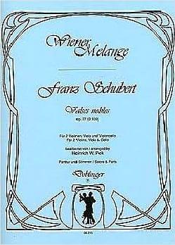 SCHUBERT - Waltz nobles op. 77 - D. 939 - Streichquartett - Partitur Stimmen - Sheet Music - di-arezzo.co.uk