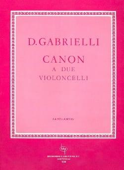 Domenico Gabrielli - Canon a 2 Violoncelli - Partition - di-arezzo.fr